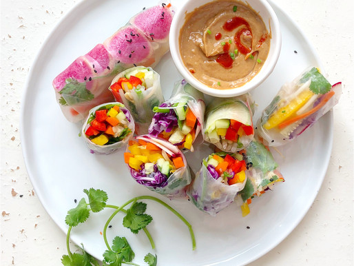 Rainbow Shrimp Spring Rolls