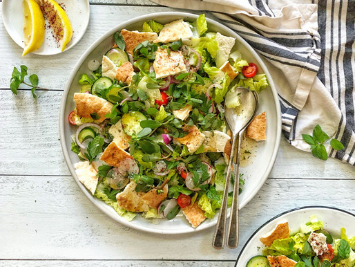 Fattoush Salad with a Mint Sumac Dressing
