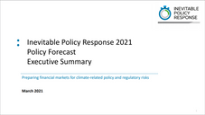 Inevitable Policy Response 2021 Policy Forecast