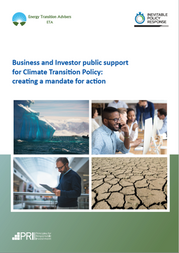 Business and Investor Public Support for Climate Transition Policy: Creating a Mandate for Action