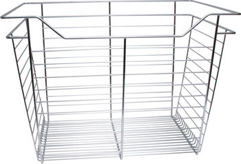 Closet Basket, steel, chrome, 16depth x