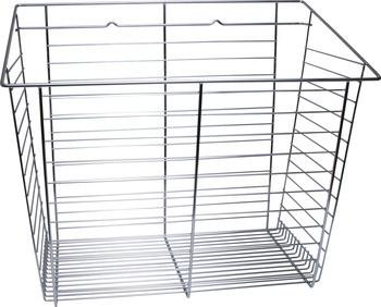 Closet Basket, steel, chrome, 16depth x