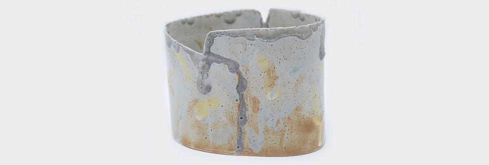 層疊橢圓花器 Layered-up Vase