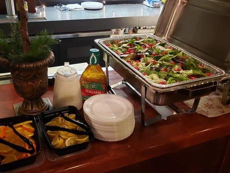 Fresh Salad Set Up