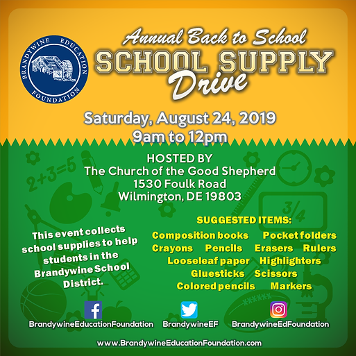 BEF Back to School Supply Drive social m