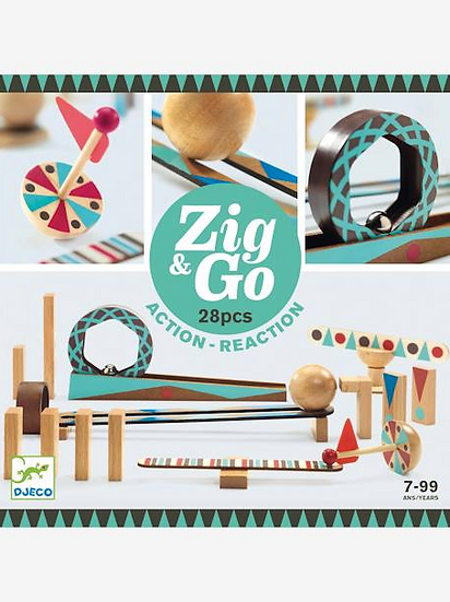Circuit de billes Zig & Go 28 pièces