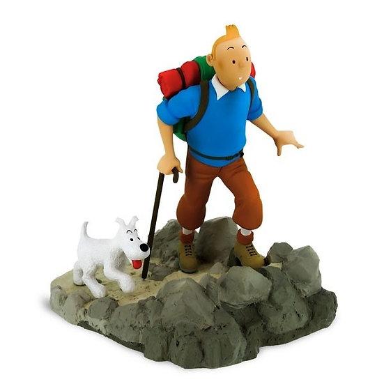 Tintin randonneur lune