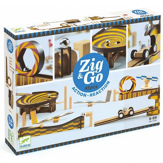 Circuit de billes Zig & Go 45 pièces