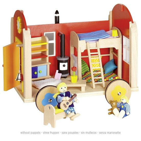 Roulotte pour poupées avec accessoires
