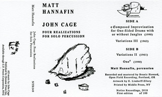 John Cage & Matt Hannafin - Four Realizations for Solo Percussion