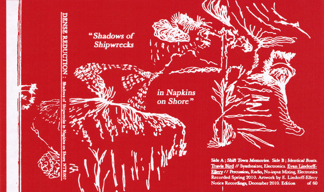 Dense Reduction - Shadows of Shipwrecks in Napkins on Shore