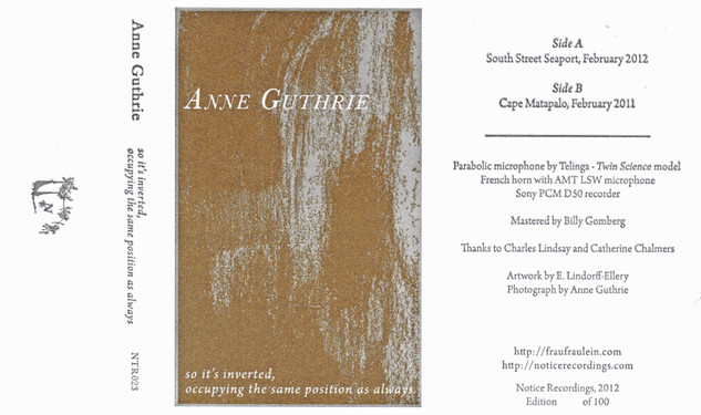 Anne Guthrie - so it's inverted, occupying the same position as always