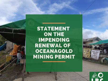 No to Renewal of OceanaGold FTAA