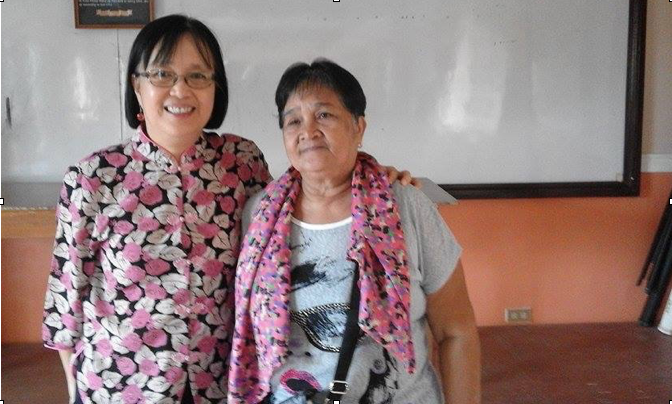Attorney Gerthie Mayo-Anda and Mrs Naty Nagutom in Marinduque preparing for the hearing