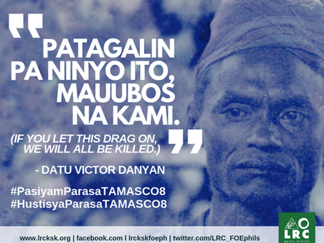 JUSTICE for the TAMASCO 8 Killings.  Now.