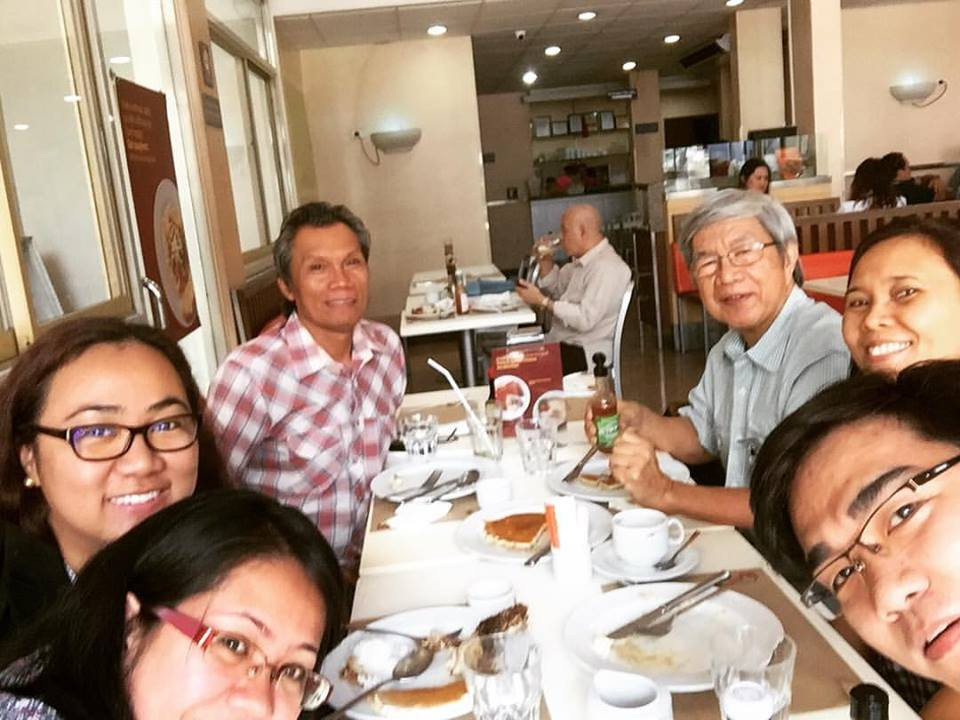 (Clockwise) Former Constitutional Commissioner and leading anthropologist Ponciano Bennagen, Yennah Torres, LRC paralegal Arjay Barrios, LRC paralegal Aubree Sadural, LRC lawyer Grace Villanueva, Teduray leader Alim Bandara