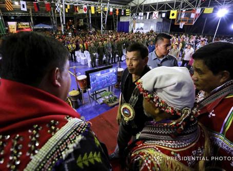 Challenge to Duterte : Let the IP communities determine their histories