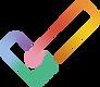 Logo de l'Outil d'autodiagnostic. Crochet multicolore qui représente 2 mains entrelacées.