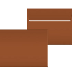 "Kuvert ""Glimmerglanz Kupfer"" 190x150"