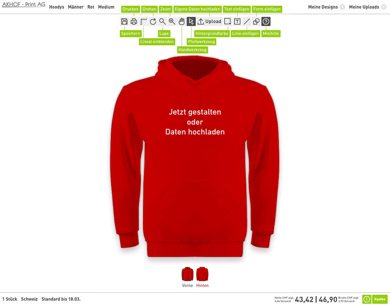 Gestaltung Tool Akhofprint
