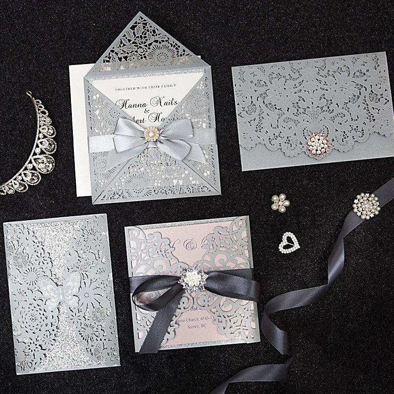 Edle Hochzeitskarten mit Laserschnitt