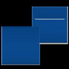 """Kuvert """"Königsblau"""" 160x160"""