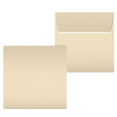 """Kuvert """"Elfenbein"""" 160x160"""