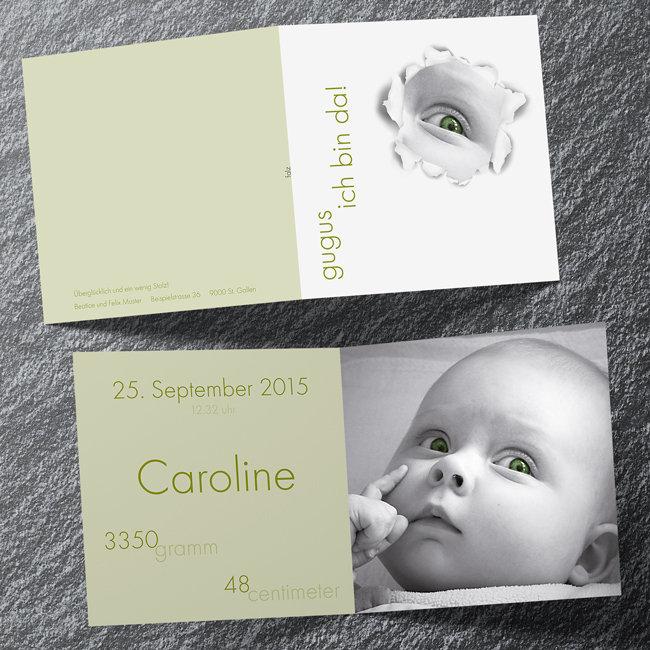 Geburtskarten 4-seitig quadratisch