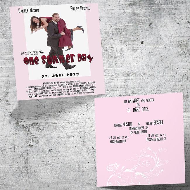 Individuelle Hochzeitskarten 2-seitig