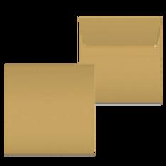 "Kuvert ""Glimmerglanz Blattgold"" 160x160"