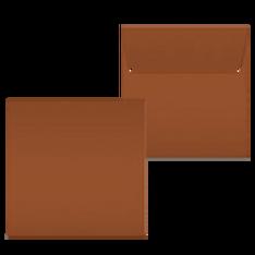 "Kuvert ""Glimmerglanz Kupfer"" 160x160"