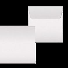 "Kuvert ""Glimmerglanz weiss"" 160x160"