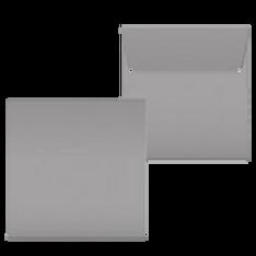 "Kuvert ""Glimmerglanz Silber"" 160x160"