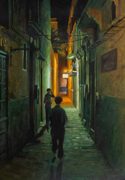 Essaouira, Maroc, Huile sur toile 38 par