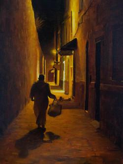 Essaouira, Maroc, huile sur toile 30 par