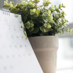 Blurred vertical calendar with little tr