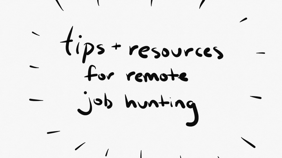 tips + resources for remote job hunting