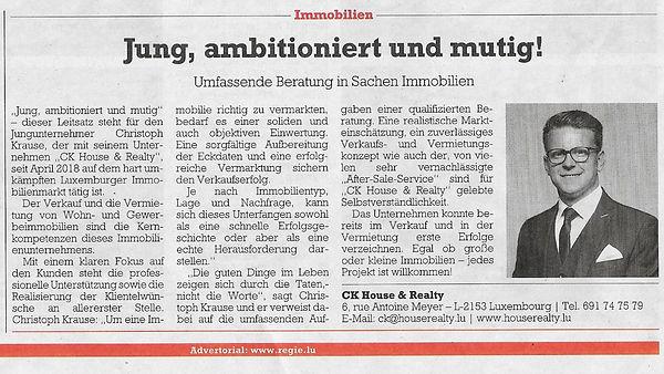 Zeitungsartikel - Luxemburger Wort Oktob