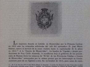Inicios de la imprenta en Montevideo