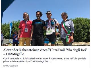 Alexander Rabensteiner vince l'Ultra-Trail® Via degli Dei