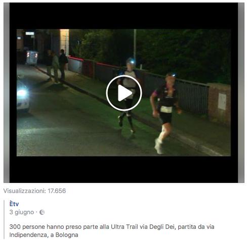 300 persone hanno preso parte all'Ultra-Trail® Via degli Dei, partita da via Indipendenza, a Bologna