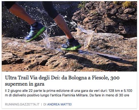 Ultra-Trail® Via degli Dei: da Bologna a Fiesole, 300 supermen in gara