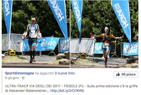 Ultra-Trail® Via degli Dei 2017 - FIESOLE (FI) C'è la griffe di Alexander Rabensteiner