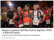 Bologna, la partenza dell'Ultra-Trail® Via degli Dei