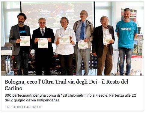 Bologna, ecco l'Ultra-Trail® Via degli Dei
