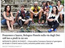 Francesco e Isacco, Bologna-Fiesole sulla Via degli Dei: 128 km a piedi in 22 ore
