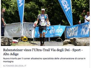 Rabensteiner vince l'Ultra-Trail® Via degli Dei