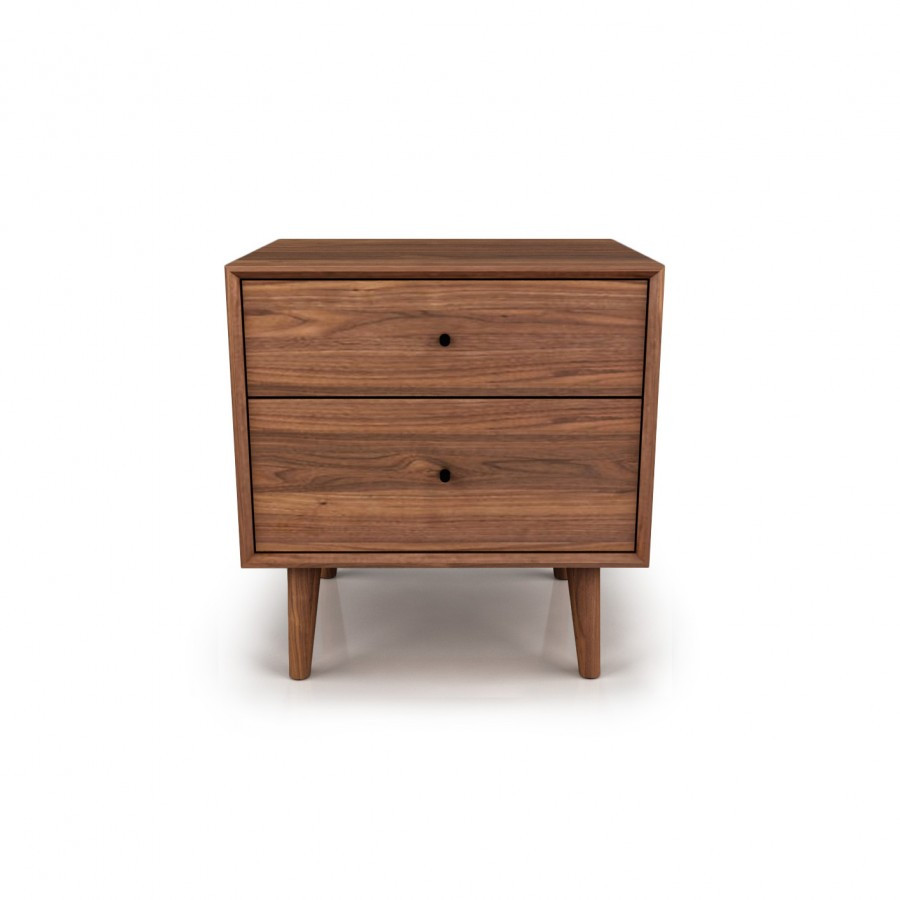 herman 2 drawer nightstand