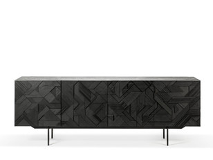 Graphic Black Sideboard