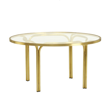 """KANTAN BRASS 42"""" ROUND CHAT TABLE"""